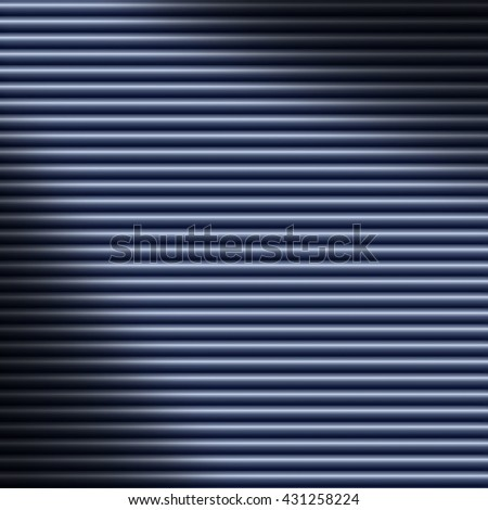 Horizontal blue tube background texture lit diagonally