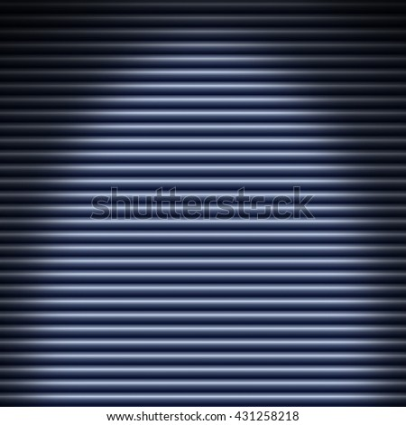 Horizontal blue tube background texture lit from above - stock photo