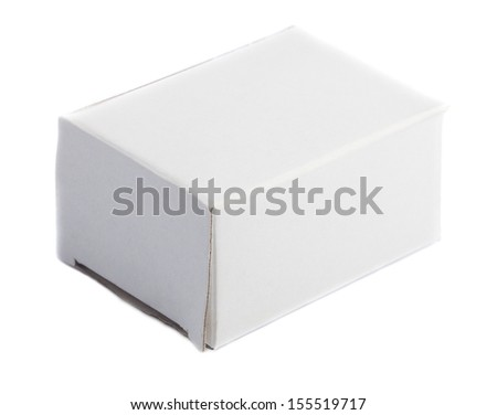 horizontal closed white box on a white background