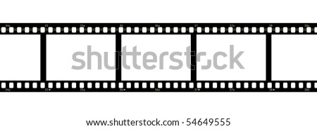 Horizontal filmstrip with blank frames and numbers - stock photo