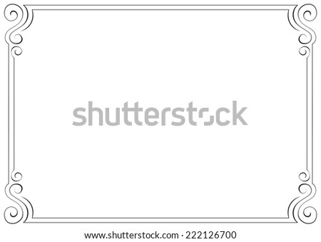 horizontal frame. Element for graphic design - stock photo