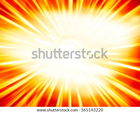Horizontal glowing sun light leak swirl abstraction background