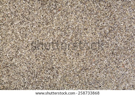 Horizontal gravel texture from quartz sand. - stock photo