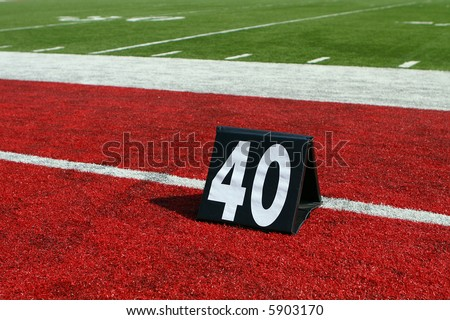horizontal image of 40-yard line marker