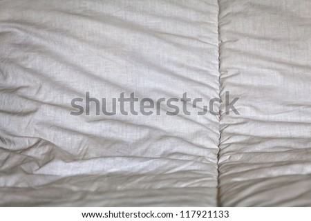 Horizontal image though may apply in any orientation, generic white stitched bed linen texture taken at a studio in Bangalore, India