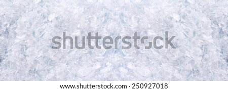 Horizontal panorama with  snow - stock photo