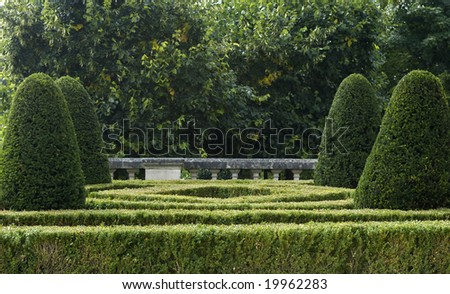 horizontal picture of a formal garden