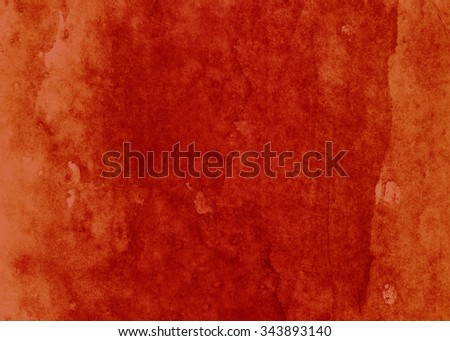 horizontal red watercolor background - stock photo