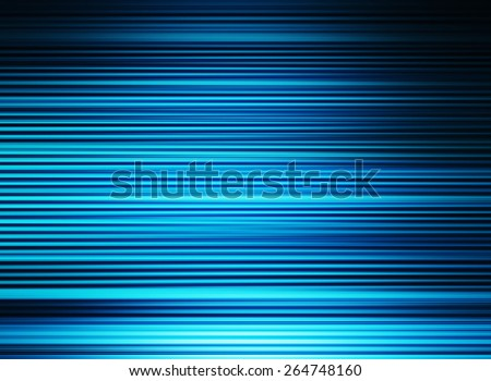 Horizontal vibrant blue cyan lines business presentation textured background backdrop - stock photo