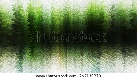Horizontal vivid green white 3d extruded cubes business presentation abstraction background backdrop - stock photo