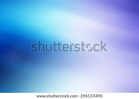 Horizontal vivid purple cyan pixel abstraction background backdrop - stock photo