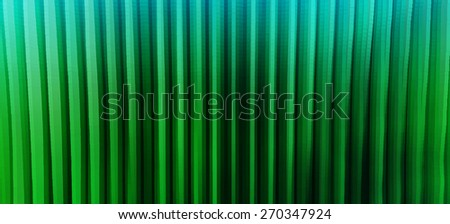 Horizontal wide vibrant green vertical lines 3d extrude cubes business presentation abstract backdrop background - stock photo