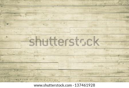 Horizontal wooden plank pattern - stock photo