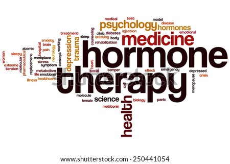 Hormone therapy word cloud concept - stock photo