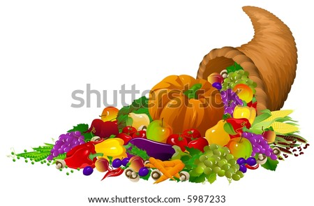 Horn of plenty - stock photo
