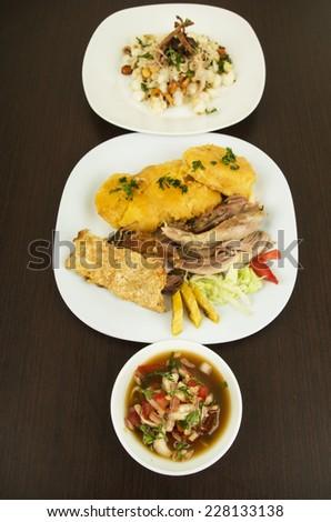 hornado roasted pork ecuadorian traditional typical food Ecuador - stock photo