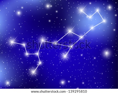 horoscope zodiac sign of the virgo on the astrological space background. jpg version - stock photo