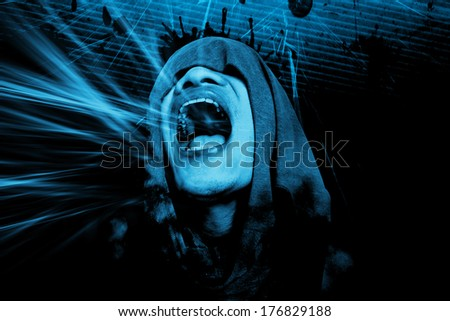 Horror Background For Wallpaper Or Movies Poster Project  - stock photo