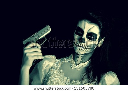 horror bride - stock photo