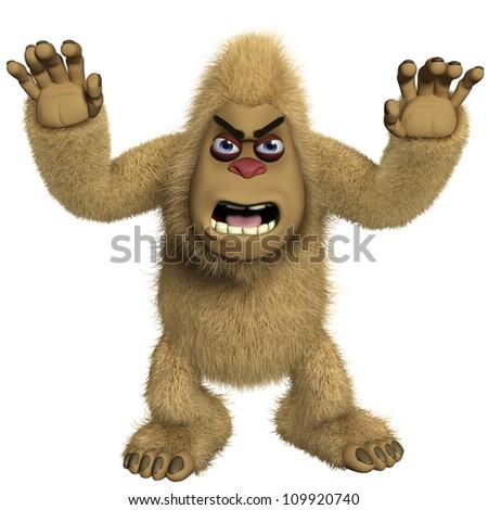 horror brown yeti - stock photo