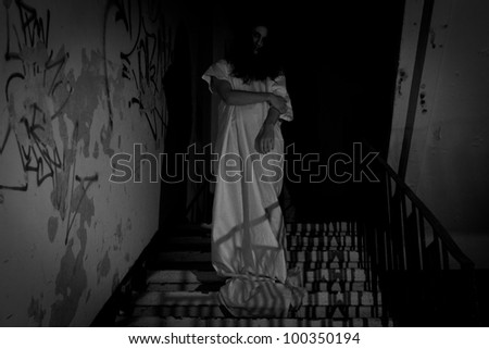 Horror Concept - can be used for a Halloween background - stock photo