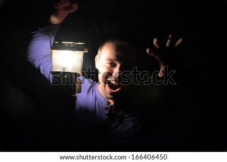 Horror man - stock photo