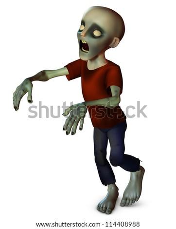 Horror zombie - stock photo