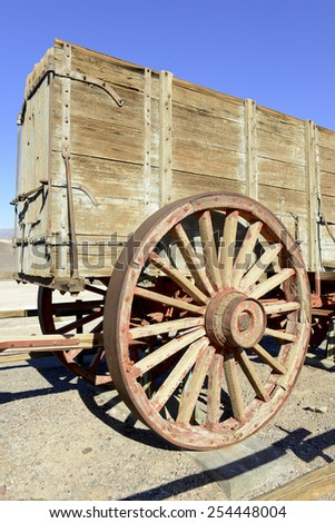 Horse and Mule driven Wagons used in the Borax Works in Death Valley, California, made famous by the 20 Mule teams