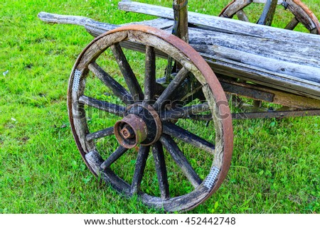 Horse-drawn carriage wheel