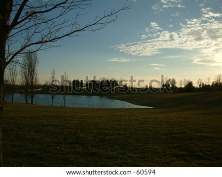 Horse Farm in Kentucky - stock photo