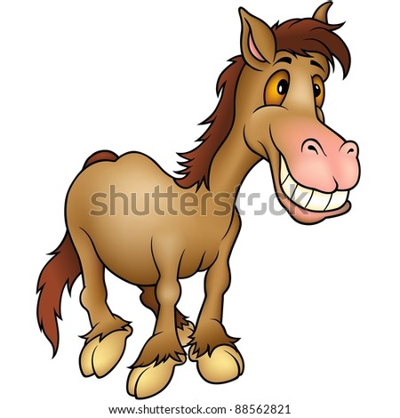 Horse Humorist - cartoon illustration