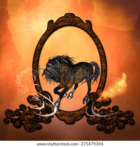Horse in a frame  - stock photo