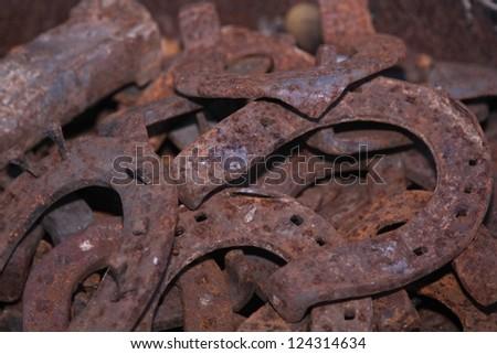 horse iron - stock photo