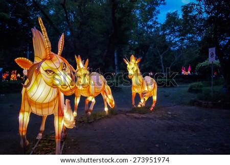 Horse lantern Festival - stock photo