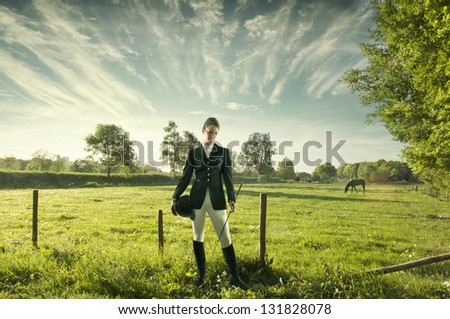 Horse riding is my passion - stock photo