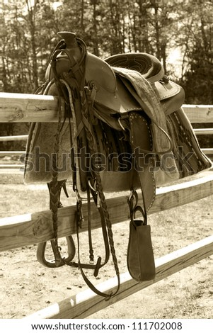 Horse Saddle - stock photo