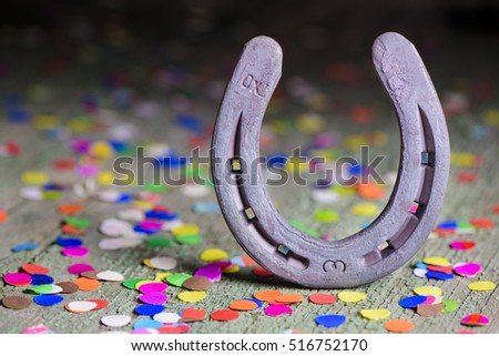 horse shoe as talisman for new year and success