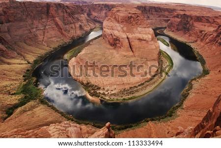 Horse Shoe Utah, USA - stock photo