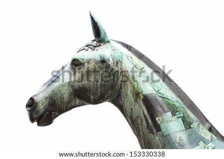 Horse statue. - stock photo