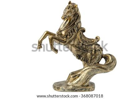horse statue in bronze - stock photo