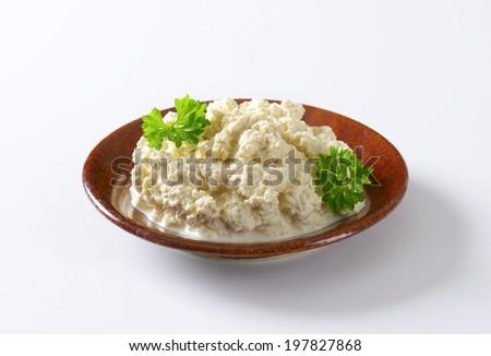 horseradish breakfast spread - stock photo