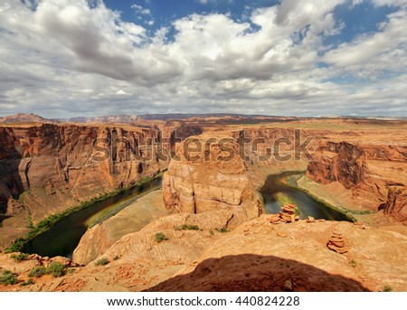 Horseshoe Bend. Arizona, USA - stock photo
