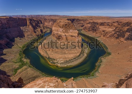 Horseshoe Bend at midday