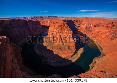 Horseshoe Bend. Hiking area in the Coconino County, Arizona. USA.