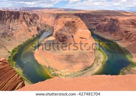 Horseshoe Bend in Page, Arizona USA - stock photo