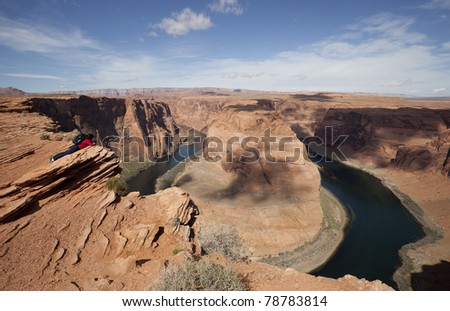horseshoe bend scenic viewpoint page arizona usa