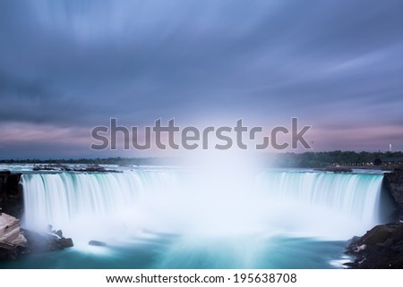 Horseshoe Falls at Niagara Falls viewed from the canadian side. - stock photo