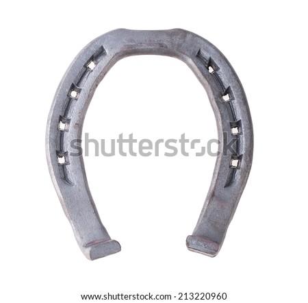 horseshoe isolated on white background - stock photo