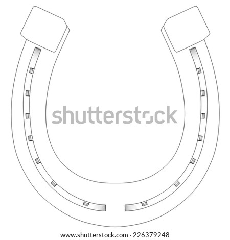 horseshoe. isolated on white background. 3d - stock photo