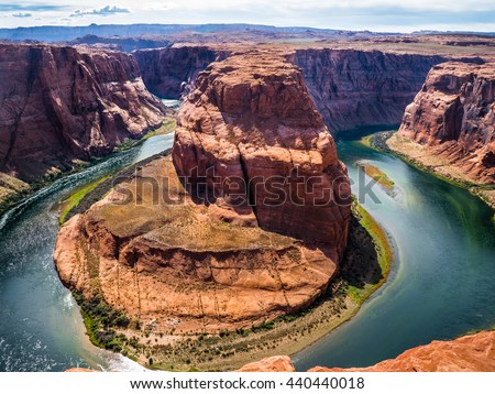 Horseshoebend, Grand Canyon  Colorado River  - stock photo